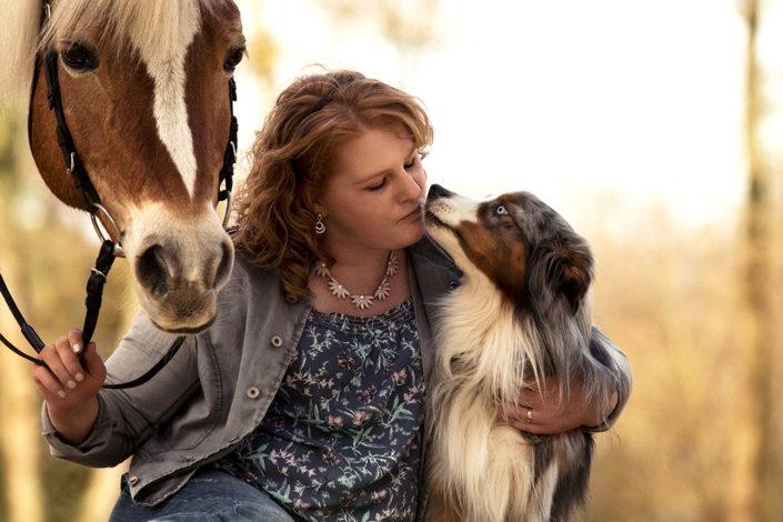 Professionelle Hundefotografie Pferd und Hund